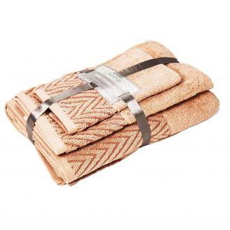 3 dalių rankšluosčių komplektas T0108 T0108-PEACH NECTAR