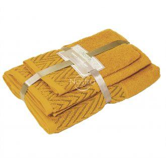 3 dalių rankšluosčių komplektas T0108 T0108-MUSTARD YELLOW