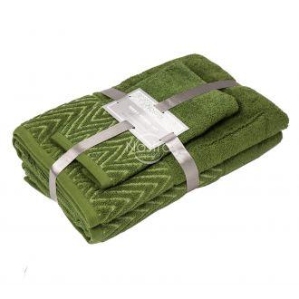 3 dalių rankšluosčių komplektas T0108 T0108-MOSS GREEN