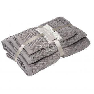 3 dalių rankšluosčių komplektas T0108 T0108-DARK TAUPE
