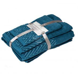 3 pieces towel set T0108 T0108-CARIBBEAN BLUE