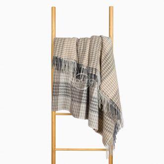 Woolen plaid MERINO-300 80-3192-LIGHT BROWN