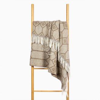 Woolen plaid MERINO-300 80-3237-BROWN