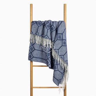 Woolen plaid MERINO-300 80-3238-BLUE