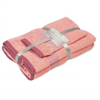 3 pieces towel set T0106 T0106-GRAPEFRUIT