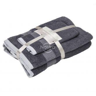 3 dalių rankšluosčių komplektas T0106 T0106-EXC.GREY