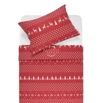 Flannel bedding set BIANCA 10-0544-RED