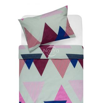 Cotton bedding set DENISA 30-0566-BLUE