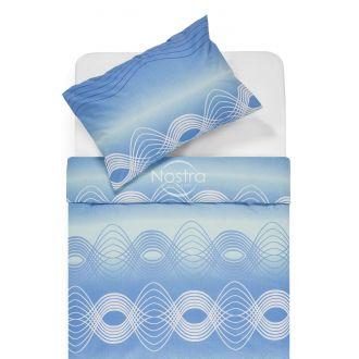 Cotton bedding set DERBY 30-0562-L.BLUE