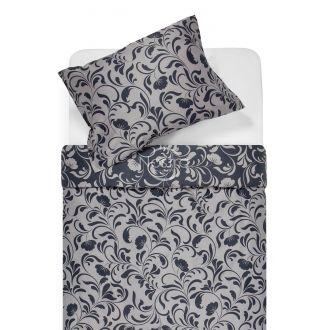 Sateen bedding set AFIFA 40-1176-IRON GREY/L.GREY