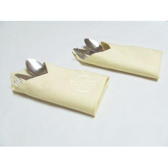 Жаккардовые сатиновые салфетки, 6 штук 80-0002-IVORY