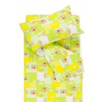 vaikiska medvilnine geltona zalia languota patalyne su meskiukais