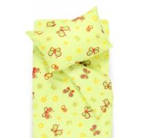 vaikiska medvilnine zalia geltona patalyne su drugeliais