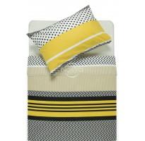 misraus pluosto juodai geltona patalyne su ornamentais