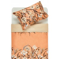satino patalyne oranzines spalvos