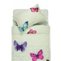 pieno baltumo satinine patalyne su drugeliais
