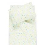 vaikiska flaneline balta patalyne su spalvotomis zvaigzdutemis