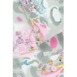 vaikiska medvilnine pilka rozine patalyne su katinais