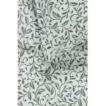 misraus pluosto juodai balta patalyne su ornamentais