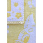 geltonas vaikiskas medvilninis pledas