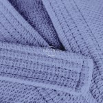 Chalatas PIQUE su gobtuvu 380 BATHROBE-STONE BLUE