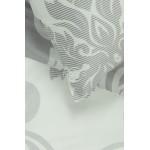 PREMIUM mako satino patalynė CHRISTINA 40-1047-GREY/WHITE 220x240, 50x70 cm