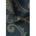 PREMIUM mako satino patalynė CHRISTINA 40-1047-BLUE/SILVER GREY 220x240, 50x70 cm