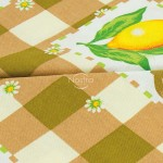medvilnine staltiese rudos spalvos