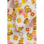 Vaikiška flanelės patalynė SMALL BEARS 10-0384-PINK