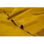 geltonas merino vilnos pledas