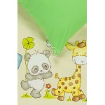 Vaikiška patalynė PANDA 10-0264/00-0361-L.BEIGE/SUMMER GREEN