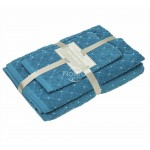 3 dalių rankšluosčių komplektas T0107 T0107-MOSAIC BLUE