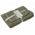 3 dalių rankšluosčių komplektas T0107 T0107-BROWN 393 30x50, 50x70, 70x140 cm