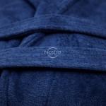 Chalatas VELOUR-430 430 BATHROBE-BLUE L