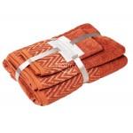 3 dalių rankšluosčių komplektas T0108 T0108-DARK ROSE