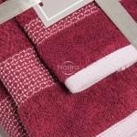 3 dalių rankšluosčių komplektas T0106 T0106-BURGUNDY