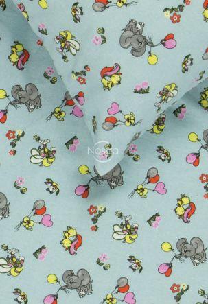 Children flannel bedding set FLYING ELEPHANTS