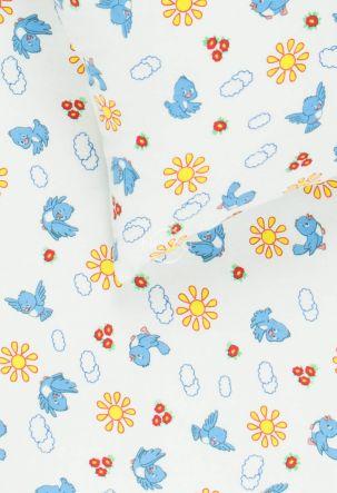 Детское фланелевое постельное белье SUMMER BIRDS