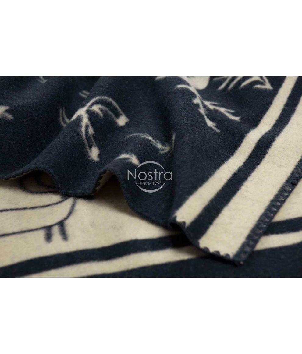 Antklodė, pledas iš MERINO vilnos 80-3190-BLUE