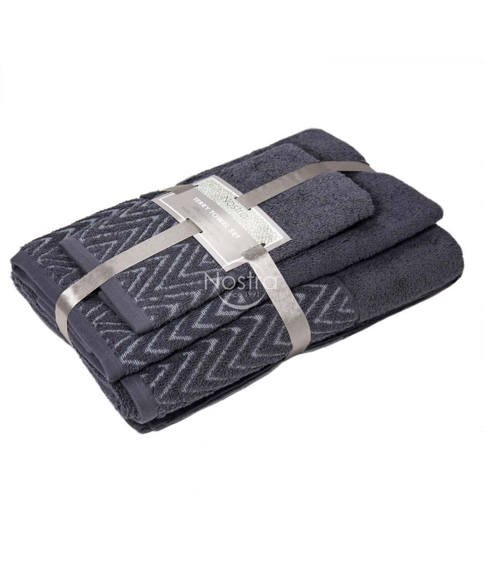 3 dalių rankšluosčių komplektas T0108 T0108-EXC.GREY