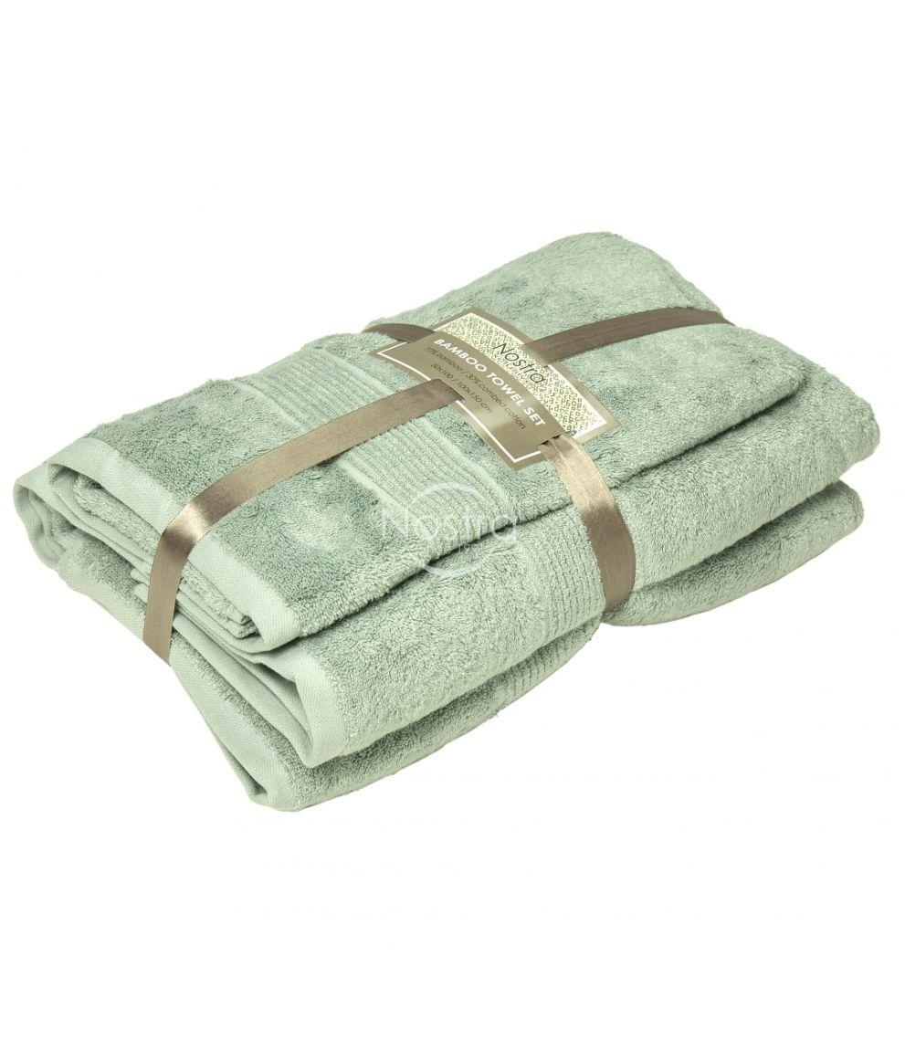 Bambukinių rankšluosčių komplektas BAMBOO-600 T0105-SMOKE GREEN