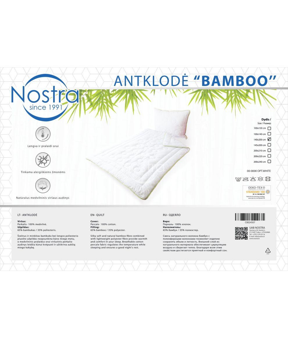 Antklodė BAMBOO 00-0000-OPT.WHITE