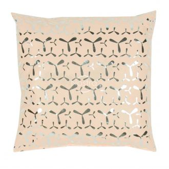 Pillow METALIC 70-0024-APRICOT/SILVER