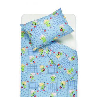 Children bedding set PLAYFUL FRIENDS 10-0077-BLUE