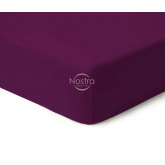 Fitted sateen sheets 00-0221-DARK PLUM