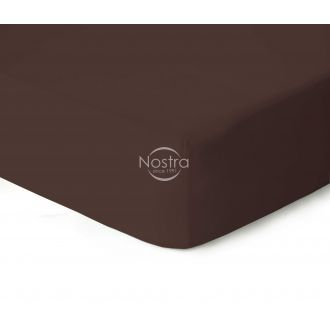 Fitted jersey sheets JERSEY-CHOCOLATE