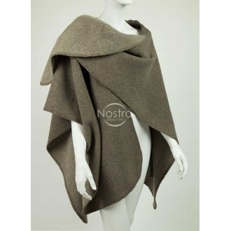 Poncho MALTA DOUBLE FACE-L.BROWN BEIGE