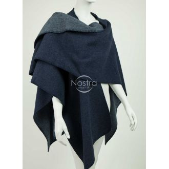 Poncho MALTA DOUBLE FACE-BLUE GREY