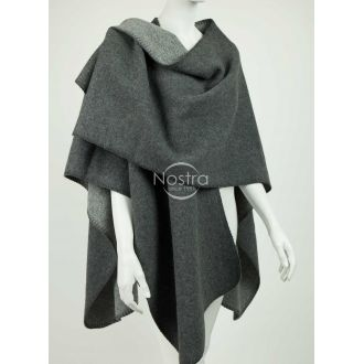 Poncho MALTA DOUBLE FACE-D.GREY L.GREY