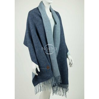 Scarf with pockets KUBA DOUBLE FACE-BLUE P.NO1